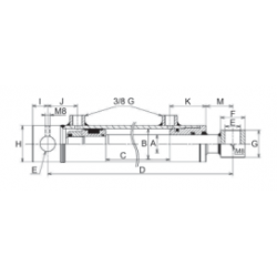 Vérin hydraulique double effet standard 40x70 mm C700 EAf 910 (4077)