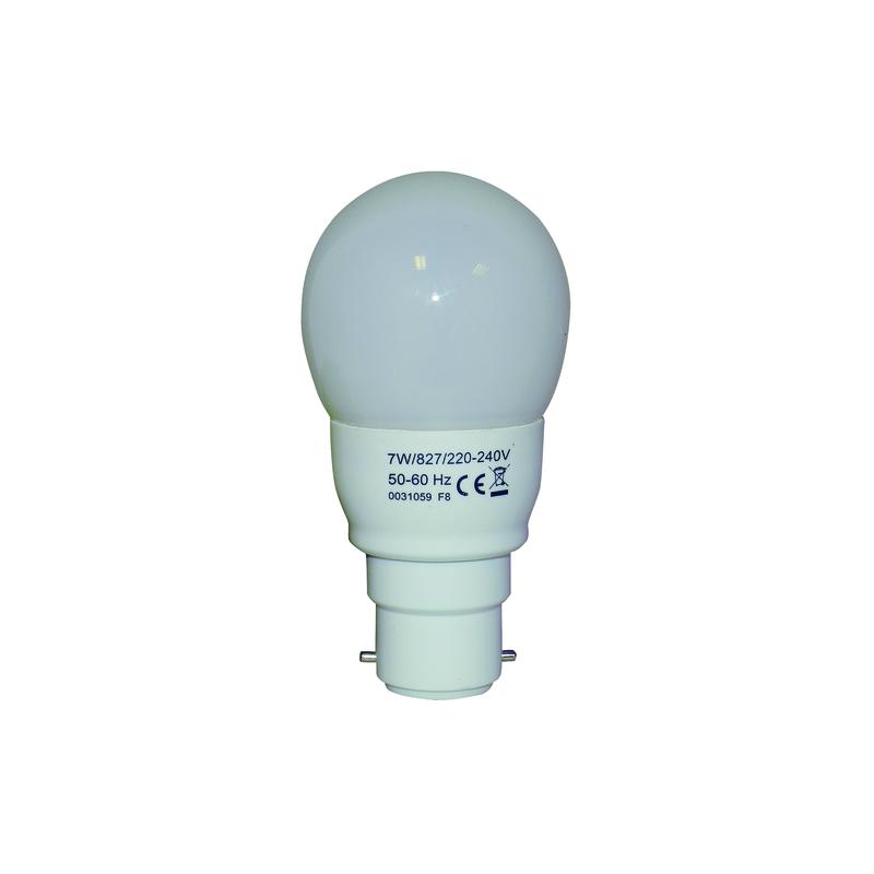 LAMPE FAST START SPHERIQUE T2 7W B22 827