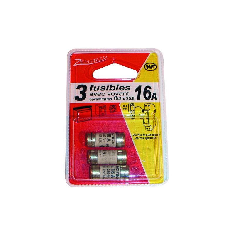 FUSIBLES 8,5x31,5 20A AVEC VOYANT (BOXDE3)