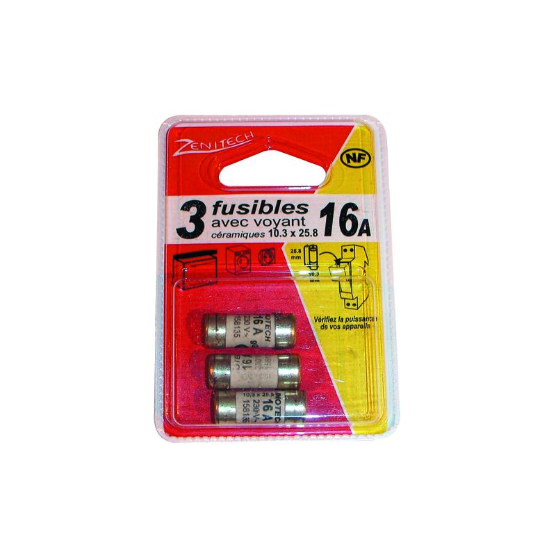 ASS FUSIBLES 1X10A.3X16A.1X20A.1X32A BOX DE 6