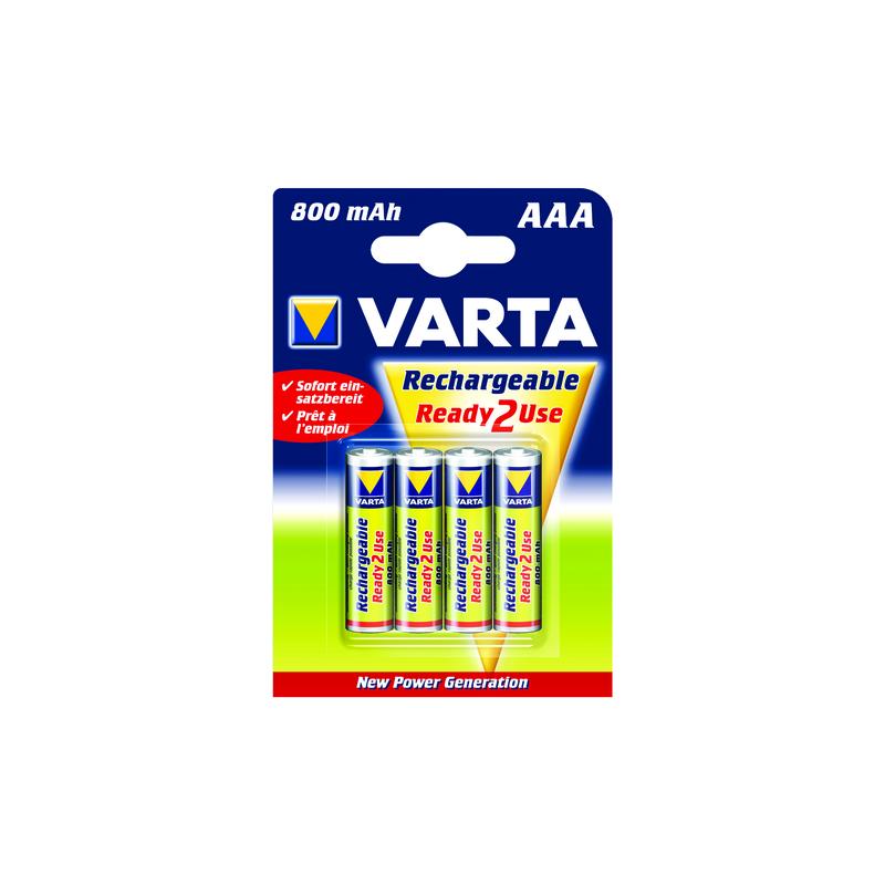 PILE RECHARGEABLE LR03 (800mah) BLIST.4 VARTA