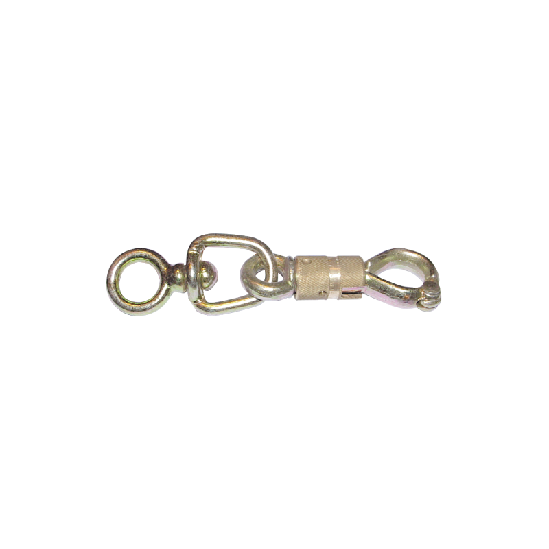 MOUSQUETON SECURITY L.100 A TOURET (BOX DE 1)