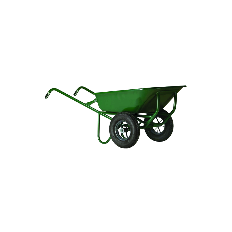 BROUETTE EXPERT TWIN 150 LITRE M.PEINT 2 ROUES GONFLEES