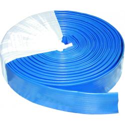 Tuyau plat flat 100 mm p.s 7 bars bleu 50 m