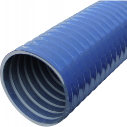 Tuyau diamètre 150 mm longueur de 3 m plastique gris renforcé