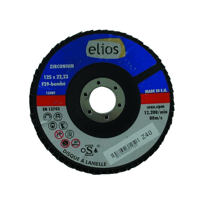 DISQUE A LAMELLES 125X1 GRAIN 40 ZIRCO. ELIOS