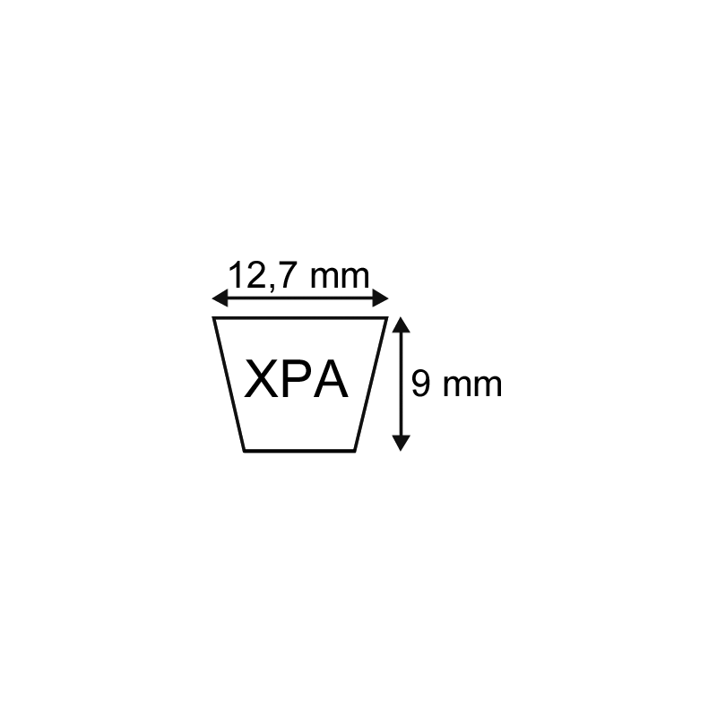 COURROIE CRANTEE XPA 12,7X09 1650mm