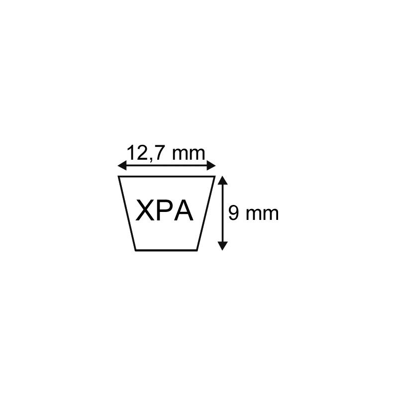 COURROIE CRANTEE XPA 12,7X09 1850mm