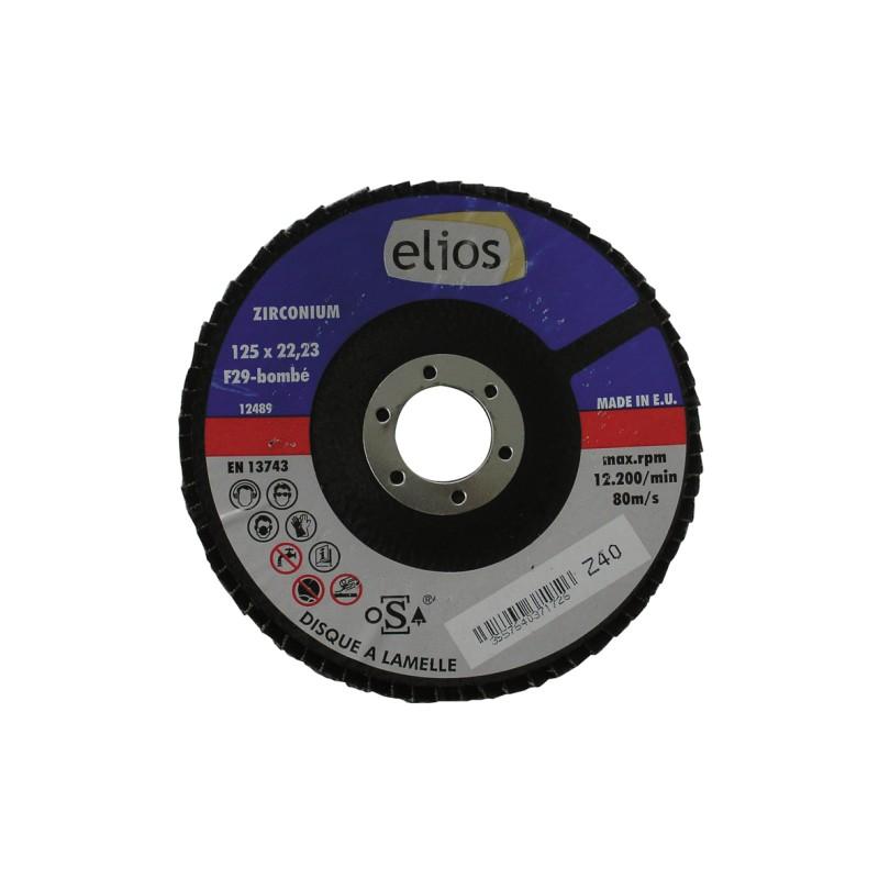 DISQUE A LAMELLES 125X1 GRAIN 60 ZIRCO. ELIOS