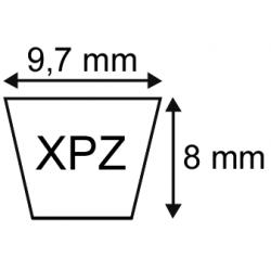 Courroie crantée XPZ 9.7x08 longueur 1687 mm