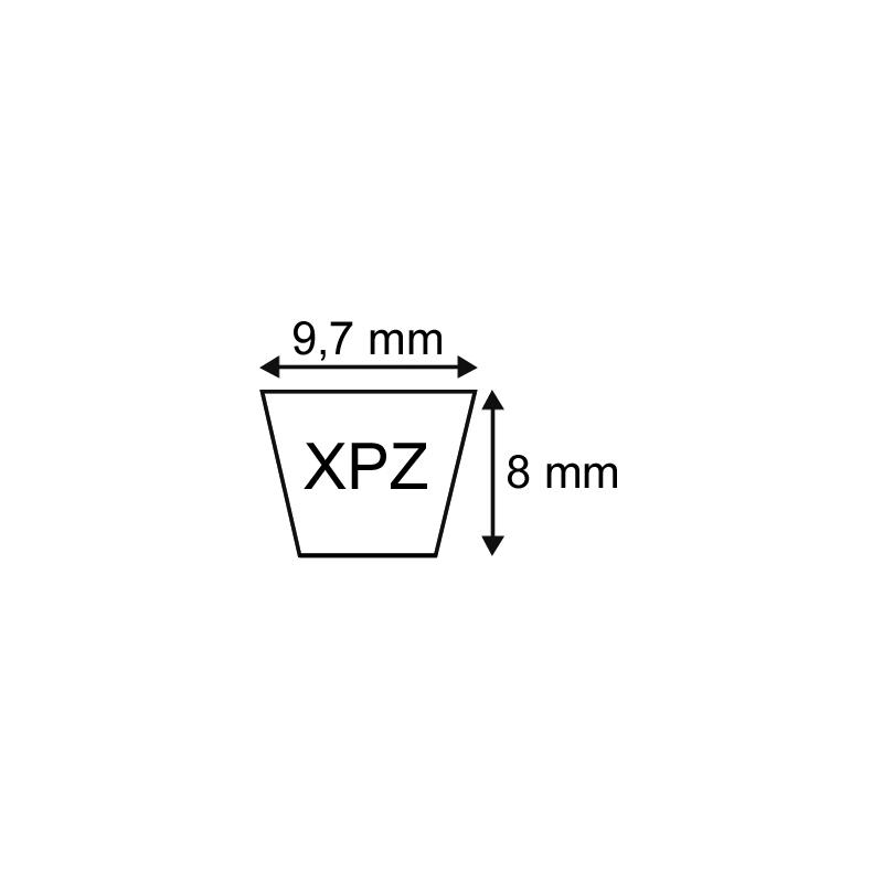 COURROIE CRANTEE XPZ 9,7X08 Longueur 1762mm