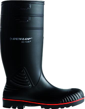 8db08f453bece Botte de sécurité caoutchouc Acifort Dunlop noir