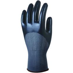 Gant polyamide gris enduit NITRILE noir (boite de 5 paires)