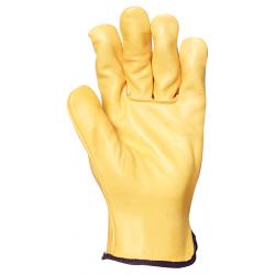 Gant cuir fleur de vachette jaune (boite de 2 paires)