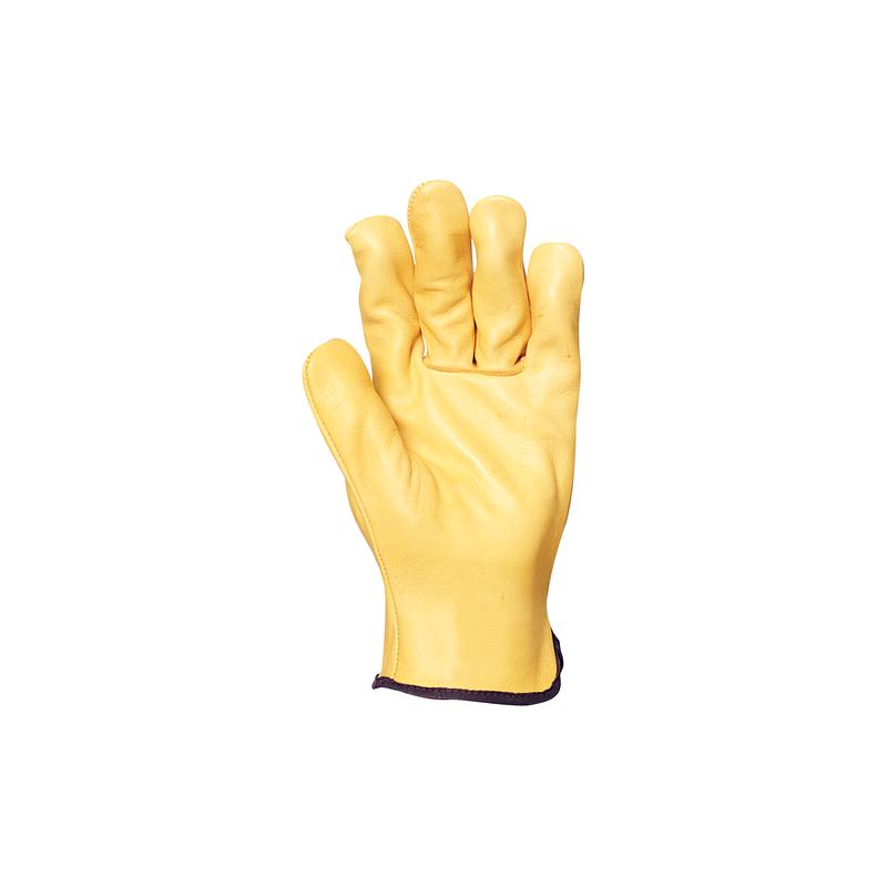 Gant cuir souple fleur de vachette jaune
