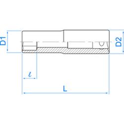 """Douille longue 1/2"""" (12.7 mm) pour vis mâles Torx ® 4275"""