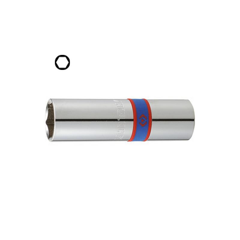 """Douilles pour bougies 1/2"""" (12.7mm) 6 pans longueur 70 mm - 4635"""