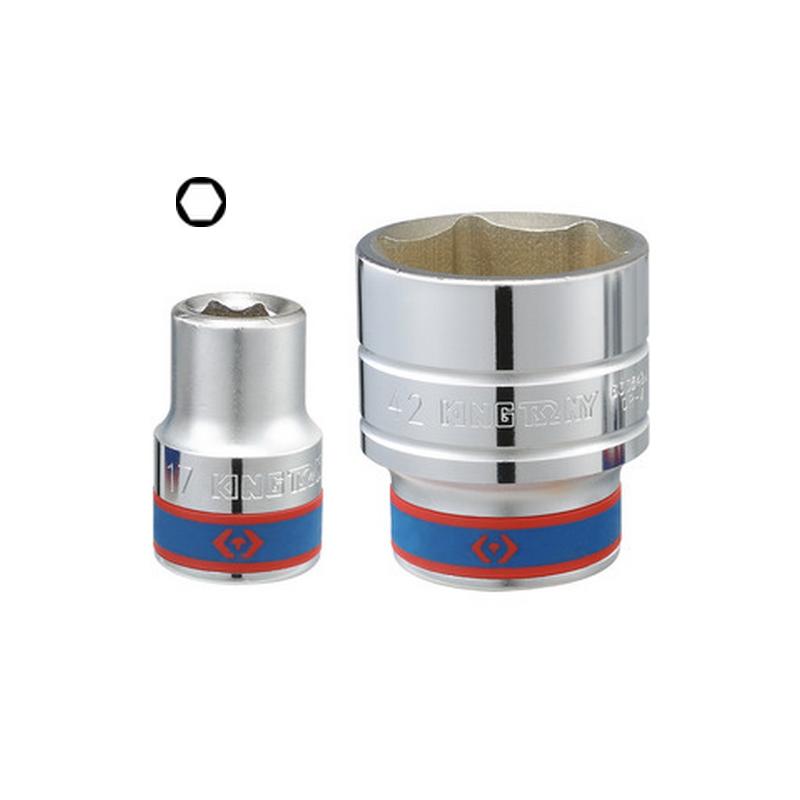 """Douille Métrique 3/4"""" (19.05mm) Standard 6 Pans 6335"""