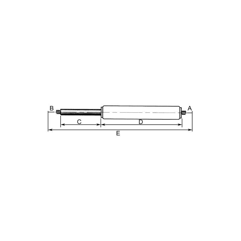 VERIN DE CABINE Longueur 253mm, Course 80mm, Force N 350