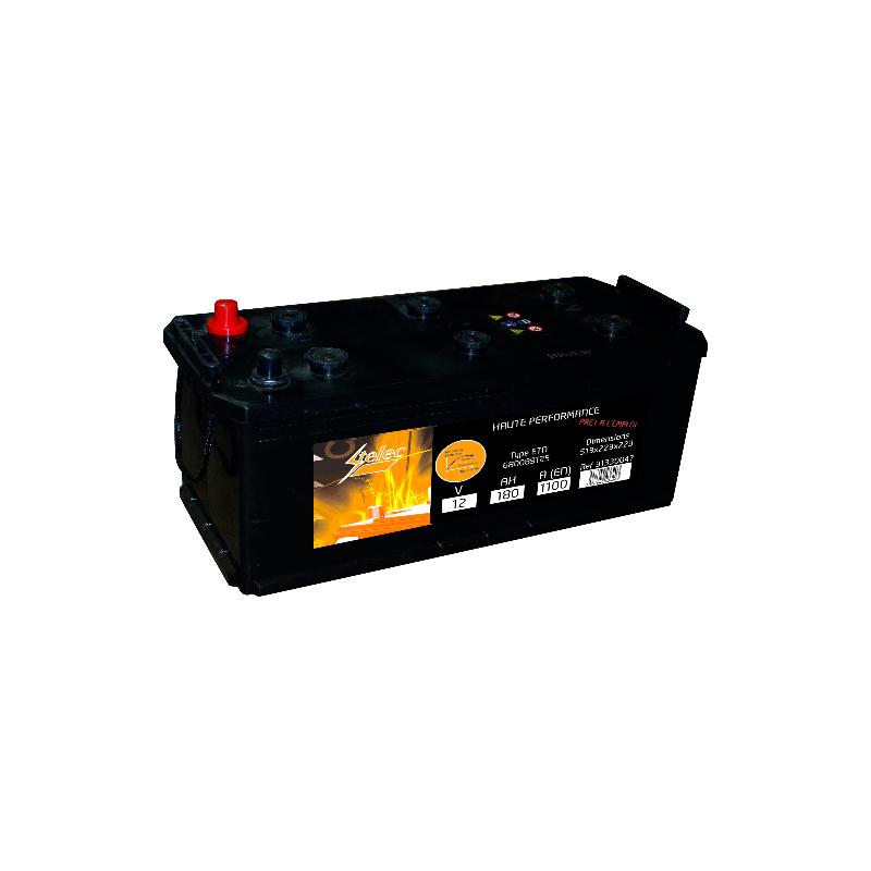 BATTERIE 12V.180AH 68022 BAC BO HUMIDE +- STELEC