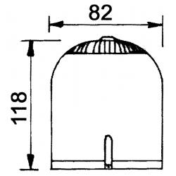 Cabochon Gyrobroyeur orange 118 x 82 mm pour Vega et Crozon