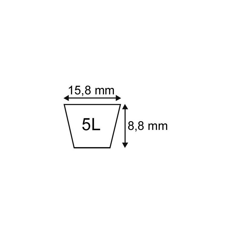 """COURROIE PLATINIUM 5L97"""" Longueur 2464 mm"""