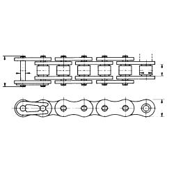 Chaine à rouleaux 16-b 25.40 eco + Flexon (5m)