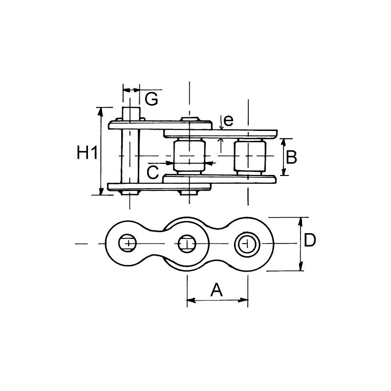 CHAINE A ROULEAUX 4L 081 PAS 12.70 (5M)