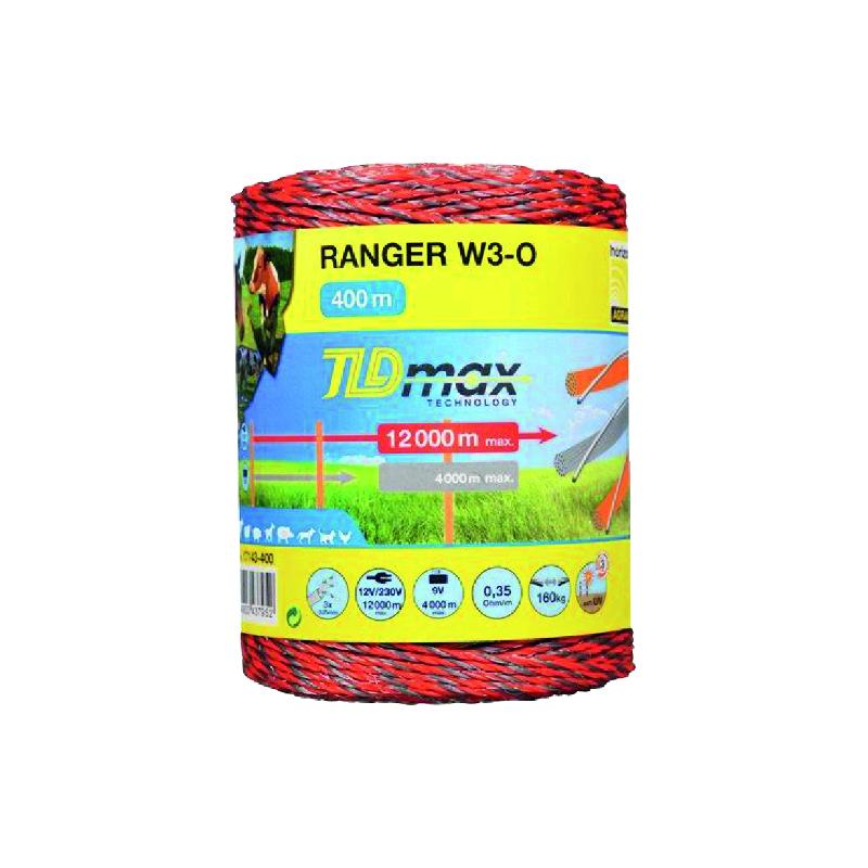 BOBINE RANGER W3-O 3FILS TDL.MAX 400M ORANGE