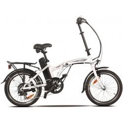 Vélo à assistance électrique pliant blanc modèle road tribe 014