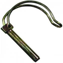 Goupille clip tube 10x50 zinguée