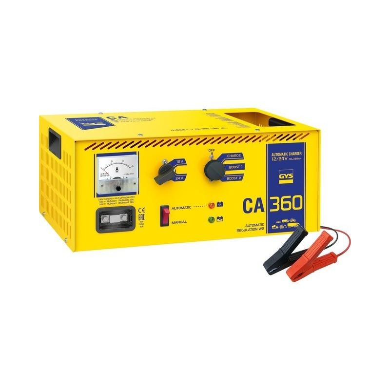 Chargeur batterie Gys CA360 12 et 24 volts 40 à 350 Ah - Chargeur de batterie professionnel