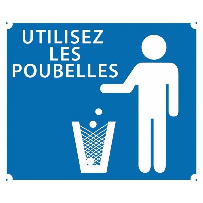 Panneau akilux ''Utilisez les poubelles'' 30 x 25 cm