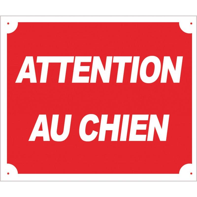 Panneau akilux ''Attention au chien'' 30 x 25 cm