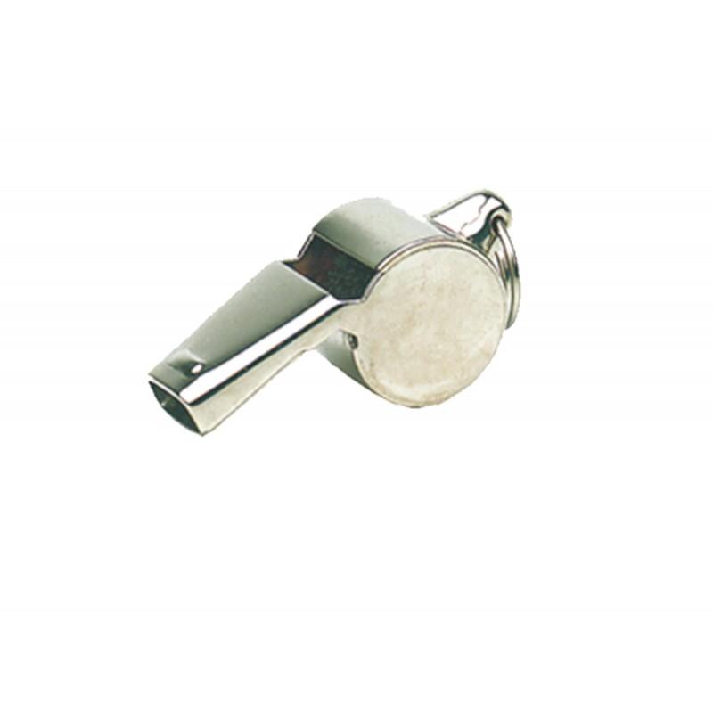 Sifflet en cuivre nickelé à roulette modèle POLICE - Elless