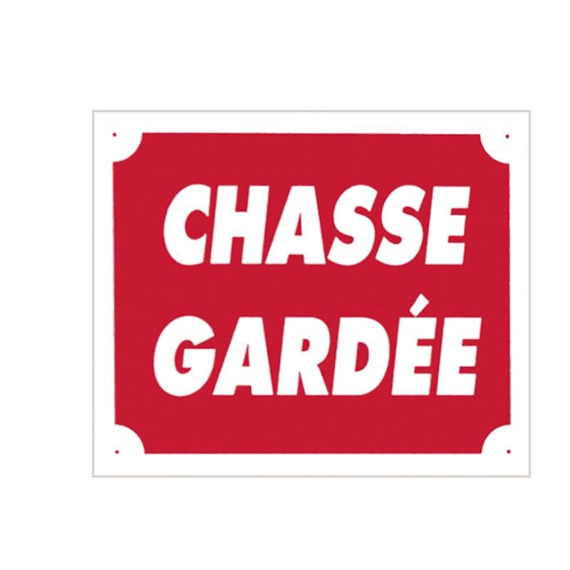 Panneau akilux ''Chasse Gardée'' 30 x 25 cm