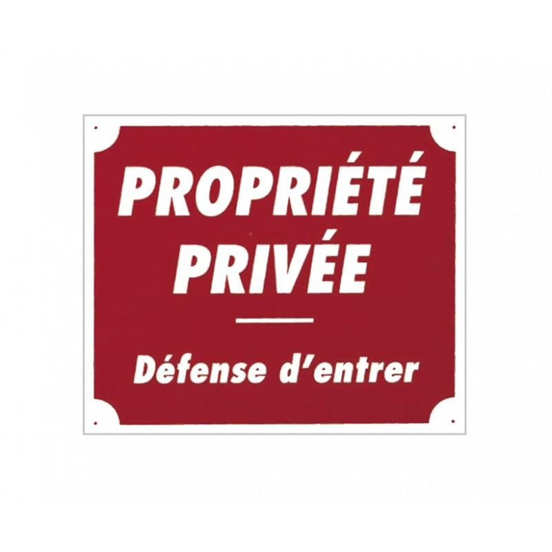 Panneau akilux ''Propriété privée'' 30 x 25 cm
