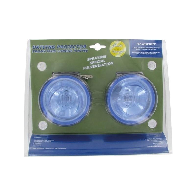 Kit 2 phares longue portée bleus spécial pulvérisateur