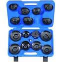 Coffret de clés coiffe pour filtre à huile - 16 pièces - 9ae2016