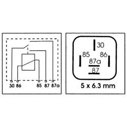 RELAIS INV 12V-20/30A-5 BORNES 6.3mm