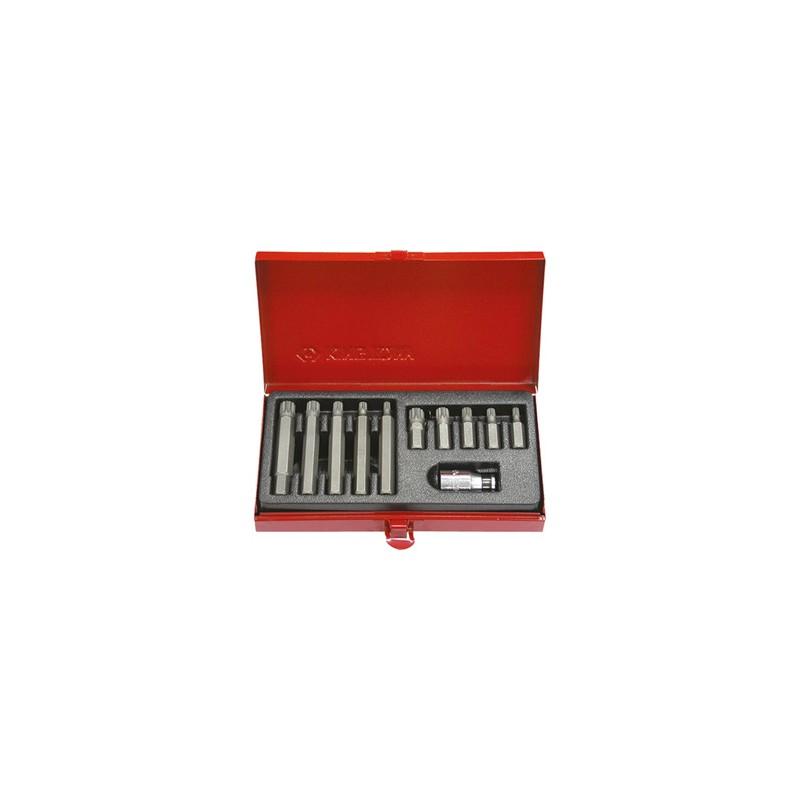 Embouts tournevis XZN 10 mm (coffret de 11 pièces) - 1011mq