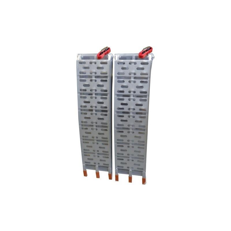 Paire de rampes aluminium repliable 228x30CM 680kg