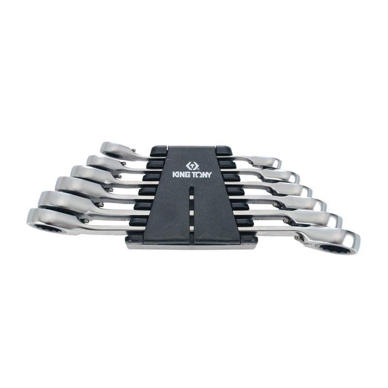 Rack de clés polygonales à cliquet métriques - 6 pièces - 12706mr