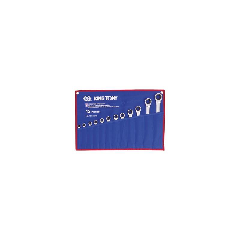 Trousse de clés mixtes à cliquet métriques - 12 pièces - 12112MRN
