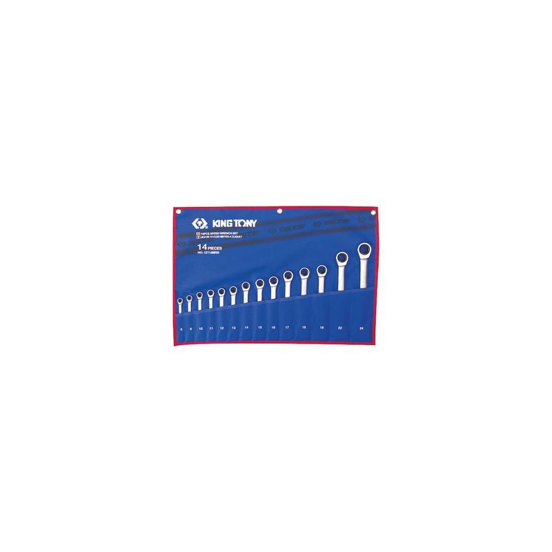 Trousse de clés mixtes à cliquet métriques - 14 pièces - 12114mr