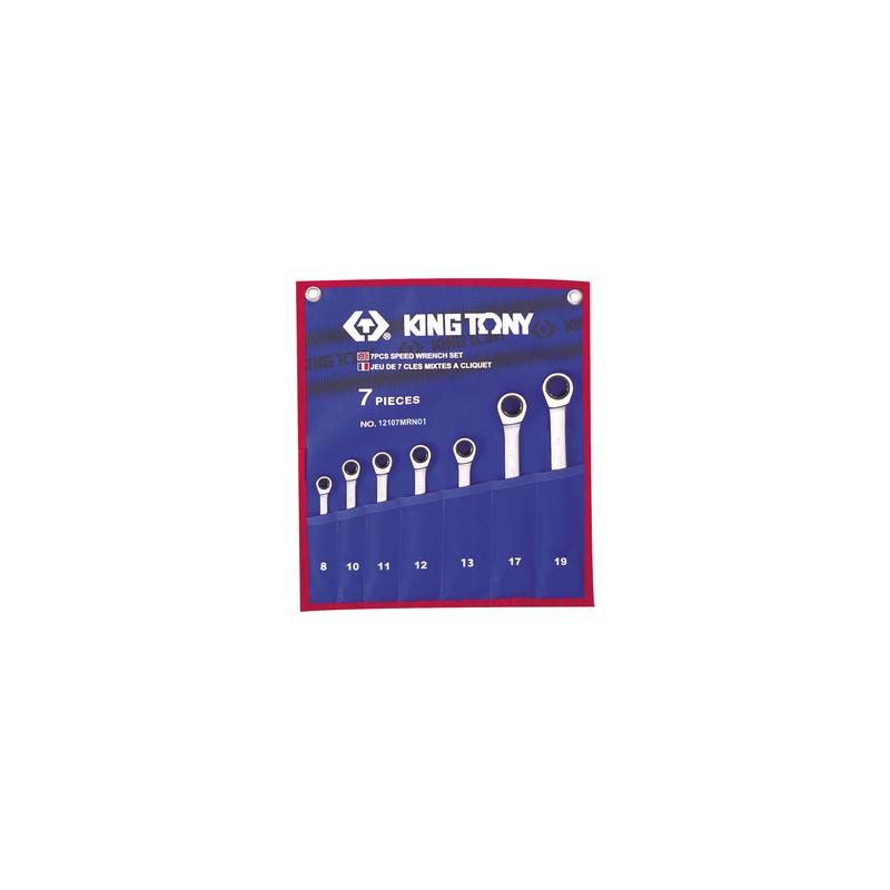 Trousse de clés mixtes à cliquet métriques - 7 pièces - 12107MRN01