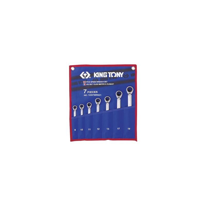 Trousse de clés mixtes à cliquet métriques - 7 pièces - 12207mr01
