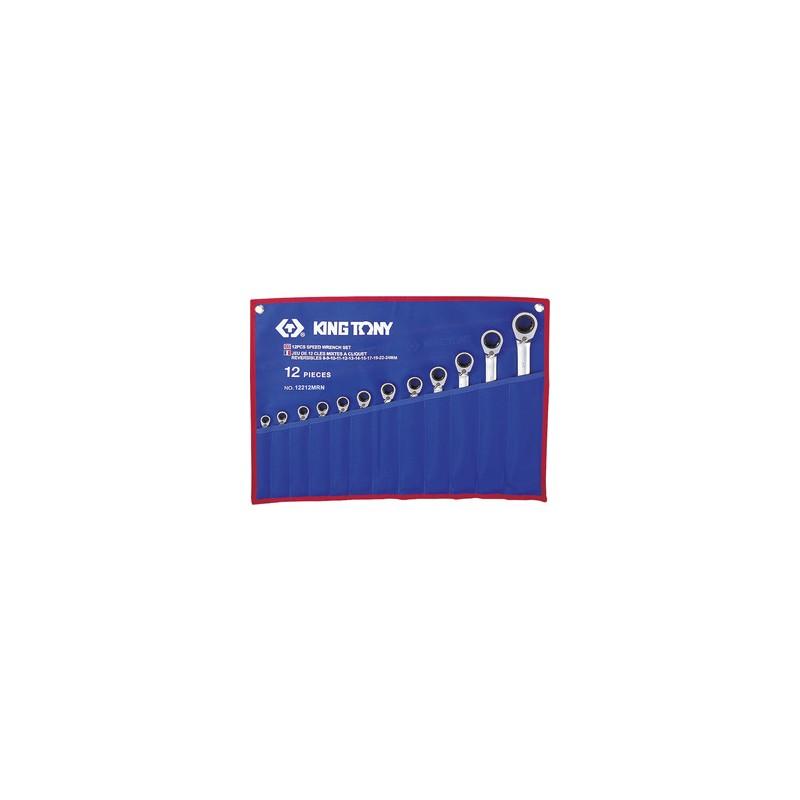 Trousse de clés mixtes à cliquet métriques - 12 pièces - 12212mr
