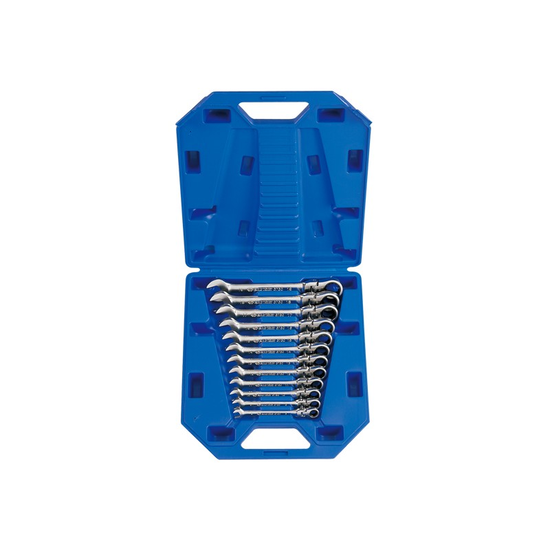 Coffret de clés mixtes à cliquet tête articulée métriques - 12 pièces - 13012MR