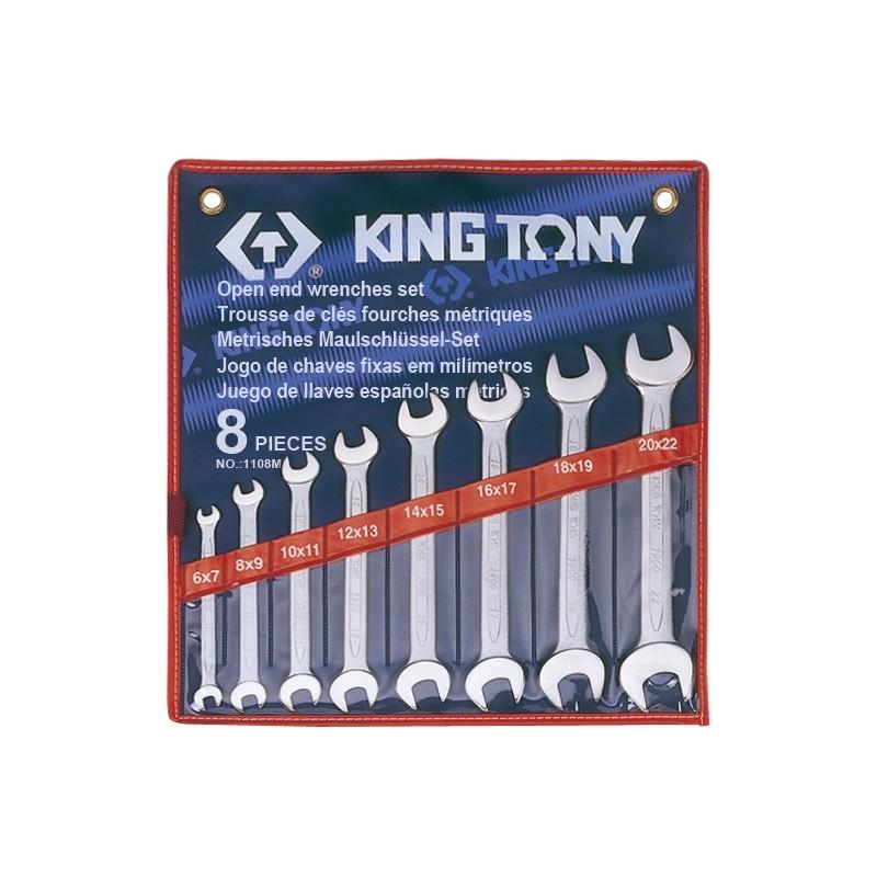 Trousse de clés fourches métriques - 8 pièces - 1108mr
